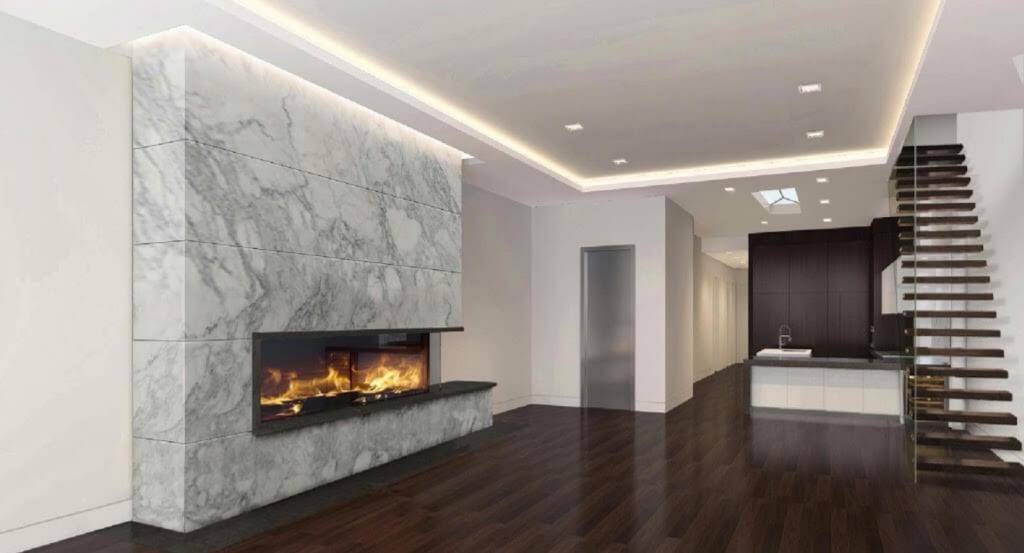 Open Multiview Gas Fireplace