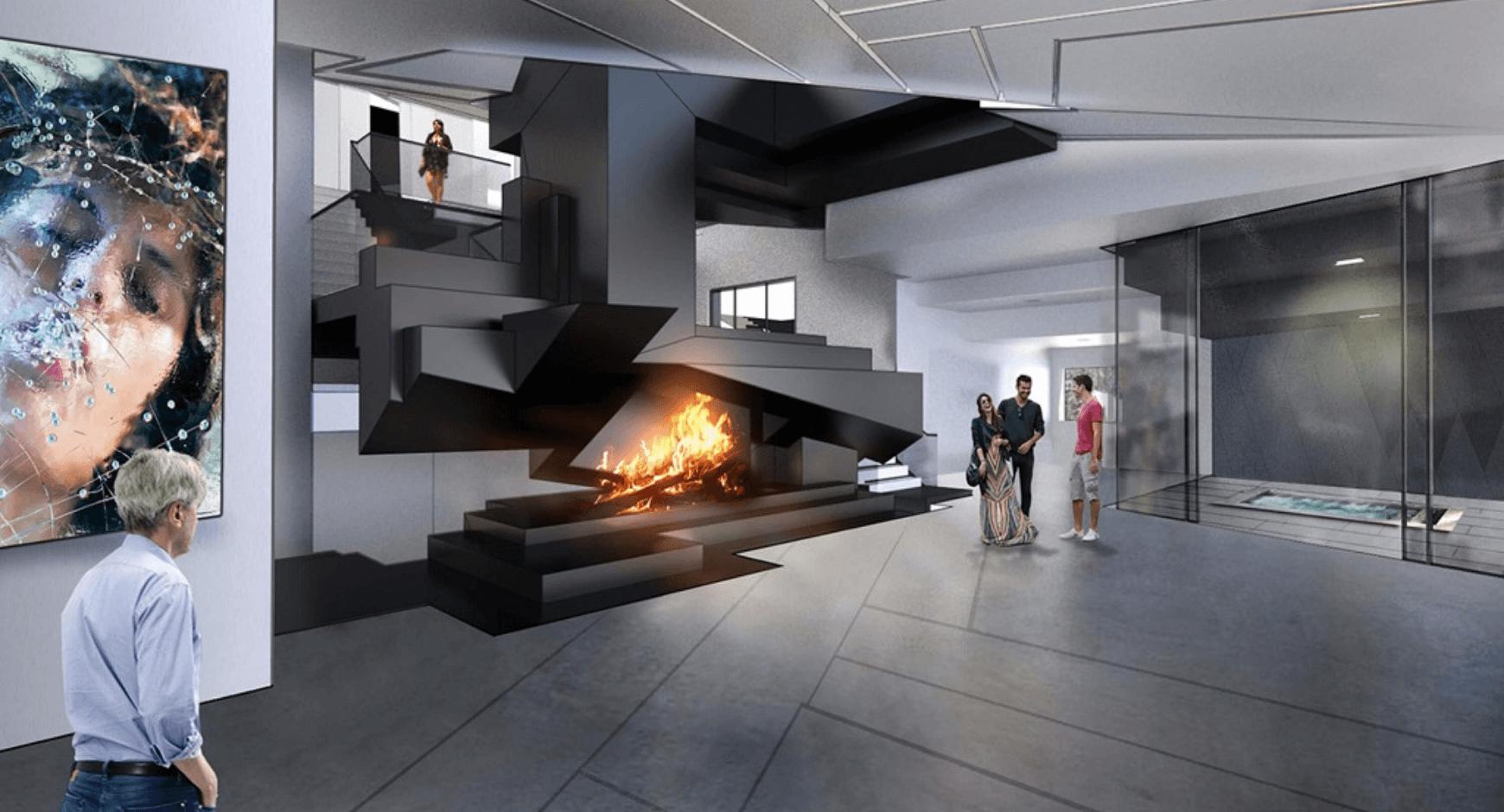 bold and modern hotel lobby design