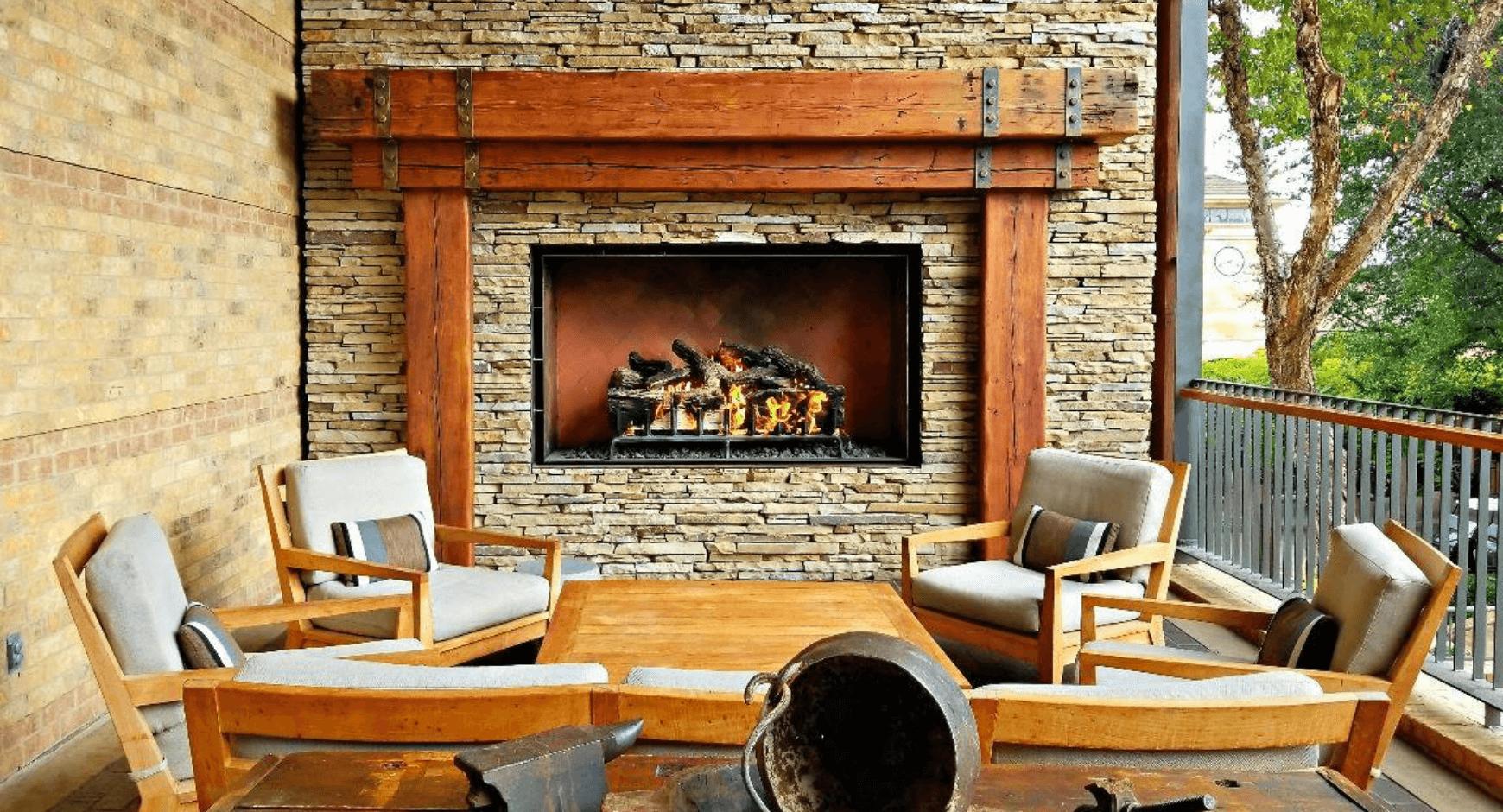 hotel interior fireplace ideas