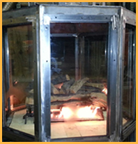 Test Burn of Custom Fireplace