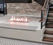 Custom 4-Sided Open Gas Fireplace