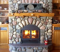 Chalet Wood Burning Fireplace by Acucraft