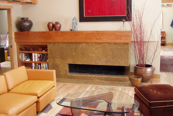 custom linear gas fireplace