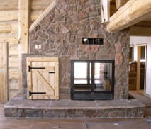 Lodge Series See-Through Wood Fireplace