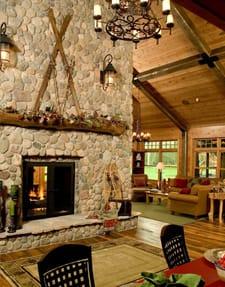 The Lodge High-Tech Single-Sided Fireplace