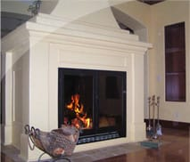 Lodge Wood Burning Fireplace by Acucraft
