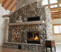 See-Through Wood Fireplace by Acucraft