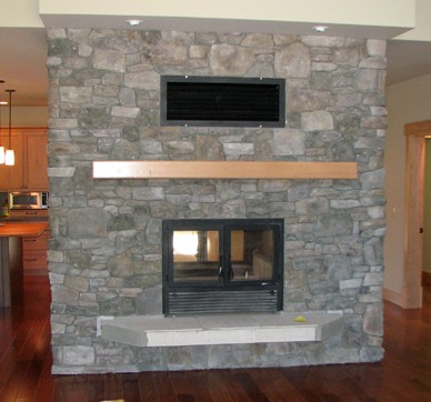 Double-Sided Wood Fireplace High-Tech