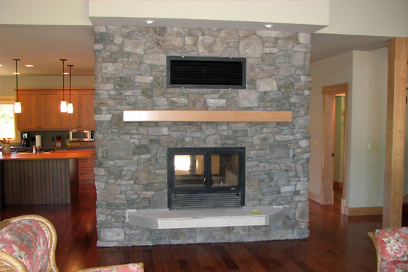 Double-Sided or See-Through Wood Fireplaces become the focal point of any room! Learn more about our 2-sided fireplace design process and view photos today!