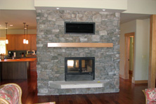 Chalet Series 2-Sided Wood Fireplace